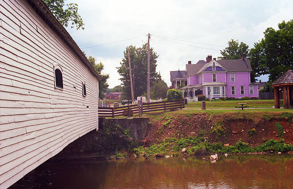 Photograph - Elizabethton Tn Covered Bridge And Mansion 2008 by Frank Romeo