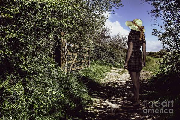 Eliza's Walk In The Countryside. Art Print