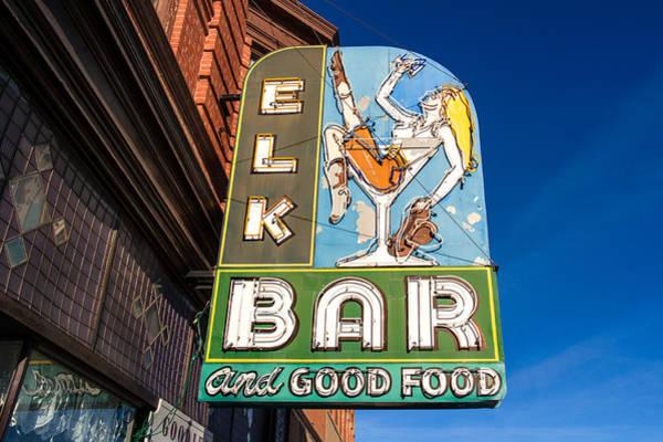 Photograph - Elk Bar Neon by Todd Klassy