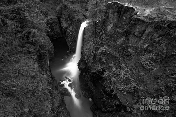 Photograph - Elk Falls In The Canyon Black And White by Adam Jewell