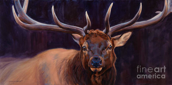 Painting - Elk Study by JQ Licensing