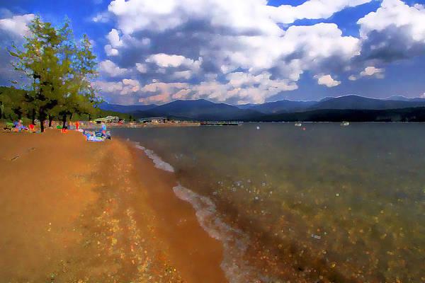 Digital Art - Elkins On Priest Lake by David Patterson