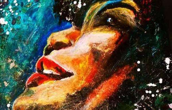 Mixed Media - Ella Fitzgerald  by Amy Lindemann