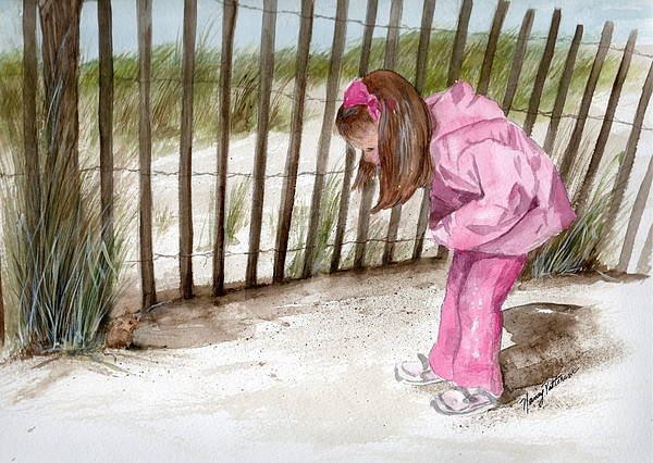 Cape May Painting - Ella Spots A Mouse  by Nancy Patterson