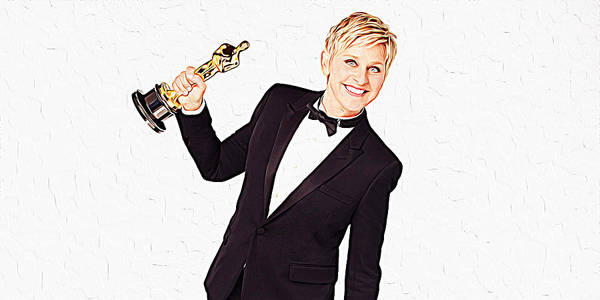 Wall Art - Painting - Ellen Degeneres by Queso Espinosa