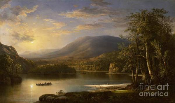 Reflecting Painting - Ellen's Isle - Loch Katrine by Robert Scott Duncanson