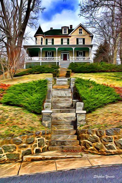 Frederick County Wall Art - Digital Art - Ellicott City House by Stephen Younts
