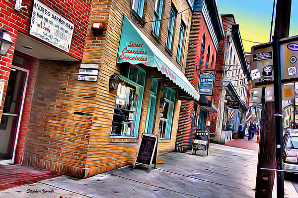 Wall Art - Digital Art - Ellicott City Shops by Stephen Younts
