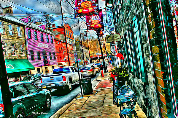 Wall Art - Digital Art - Ellicott City Street by Stephen Younts