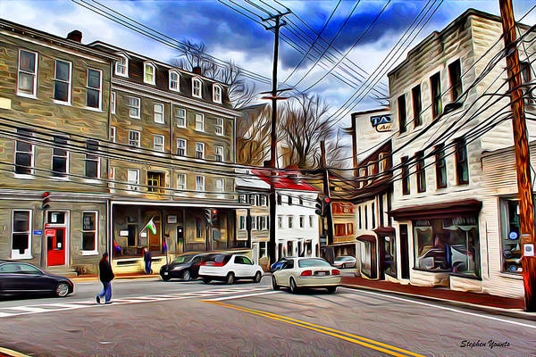 Wall Art - Digital Art - Ellicott City Streets by Stephen Younts