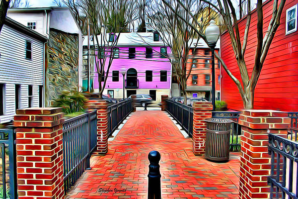 Wall Art - Digital Art - Ellicott City Walkway by Stephen Younts