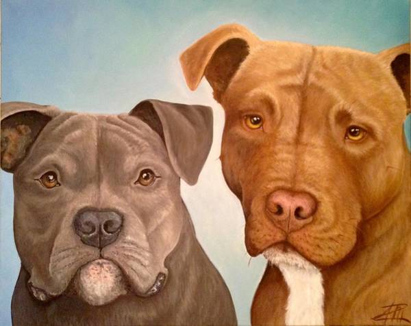 Painting - Elliot And Maxi by Ana Marusich-Zanor
