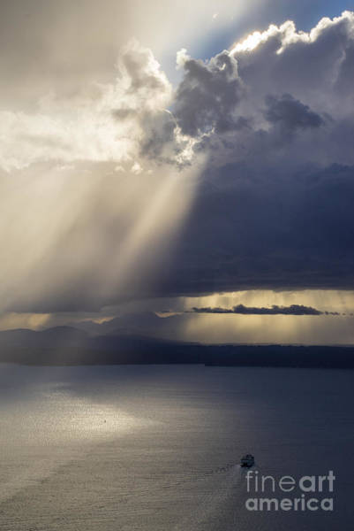 Elliott Photograph - Elliott Bay Storm Clouds Ferry by Mike Reid