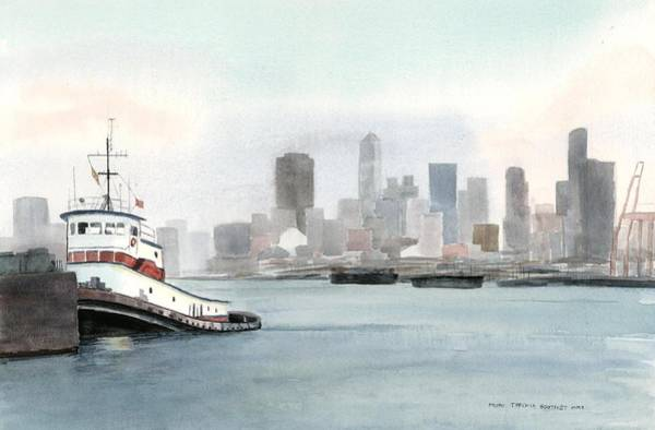 Elliott Bay Tugboat Art Print