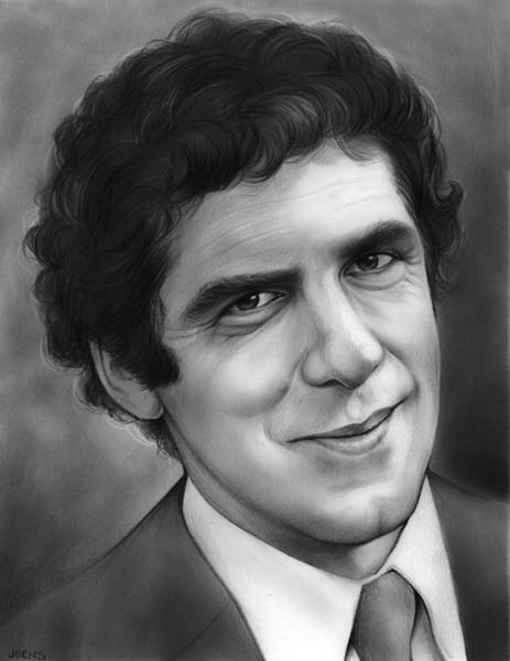 Movie Drawing - Elliott Gould by Greg Joens
