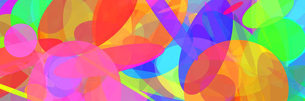 Oval Digital Art - Ellipses 9 by Chris Butler
