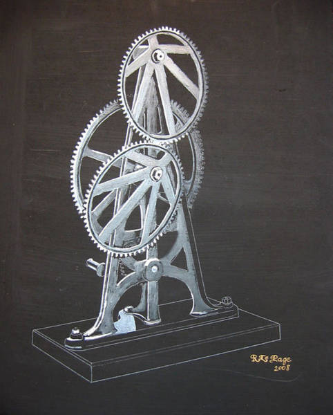 Painting - Elliptical Gears by Richard Le Page