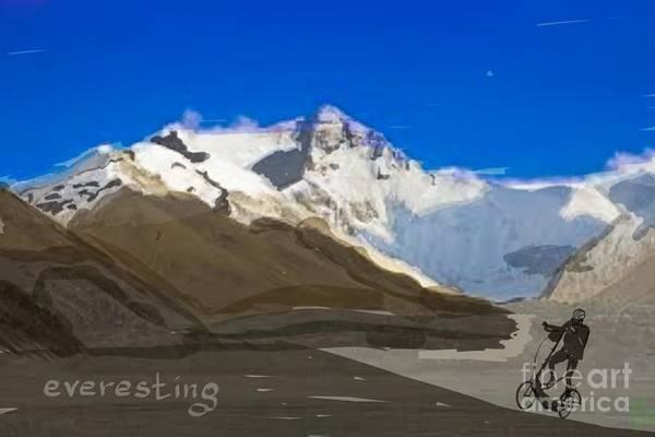 Painting - Elliptigo Everesting by Francois Lamothe