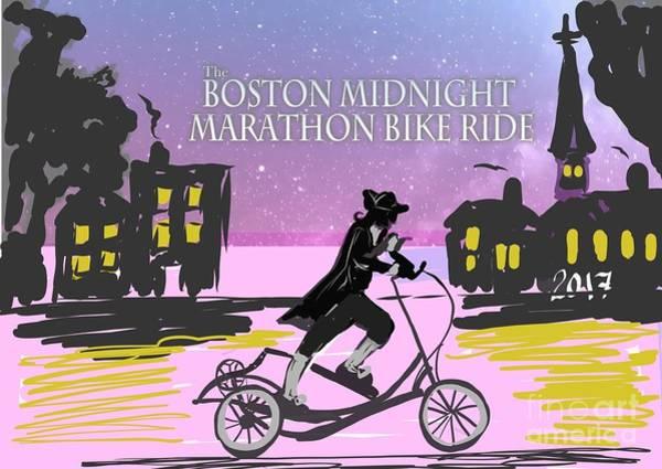 Painting - elliptigo meets the Midnight Ride by Francois Lamothe