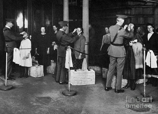 Photograph - Ellis Island: Examination by Granger