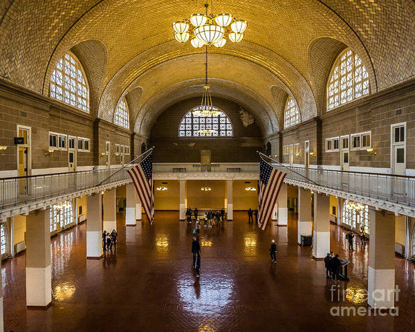 Wall Art - Photograph - Ellis Island Great Hall by Perry Webster