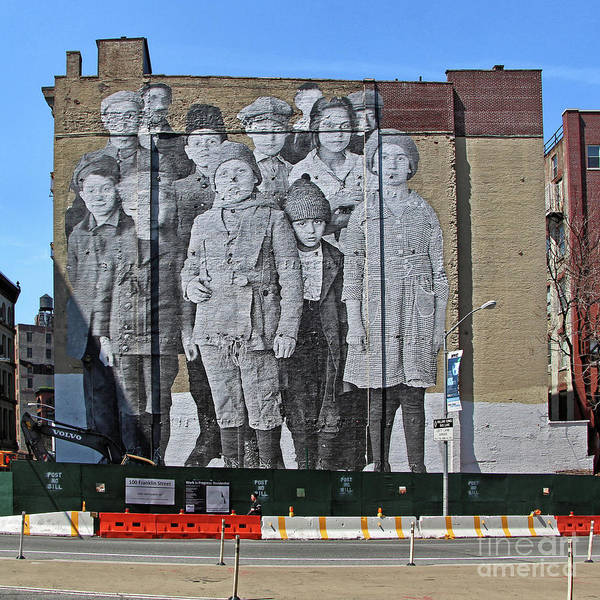 Unframed Wall Art - Photograph - Ellis Island Immigrant Children Mural Tribeca 1 by Nishanth Gopinathan