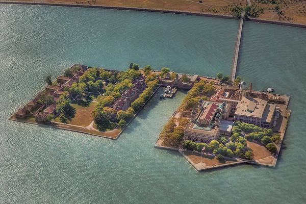 Photograph - Ellis Island Nyc Aerial by Susan Candelario
