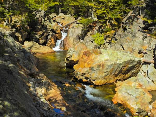 Digital Art - Ellis River White Mountains,new Hampshire by Rusty R Smith