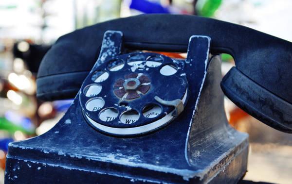 Photograph - Elmer Long's Bottle Tree Ranch Telephone by Kyle Hanson
