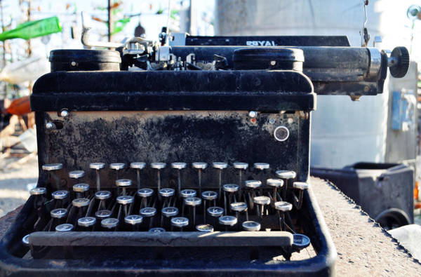 Photograph - Elmer Long's Bottle Tree Ranch Typewriter by Kyle Hanson