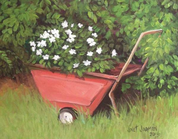 Painting - Eloise's Garden Cart by Jeanette Jarmon