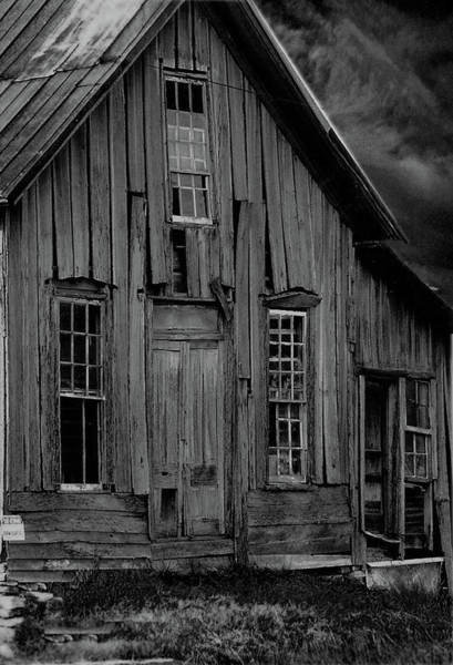 Photograph - Elora Shack Bw by Lesa Fine