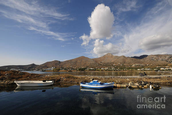Windmills Photograph - Elounda, Crete by Smart Aviation