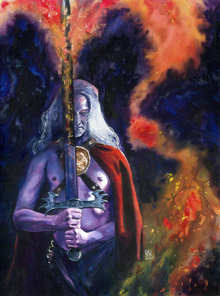 Sword And Sorcery Painting - Elric by Ken Meyer