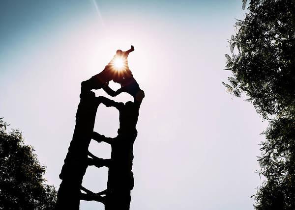 Photograph - Els Castellers Monument, Tarragona, Spain by Alexandre Rotenberg