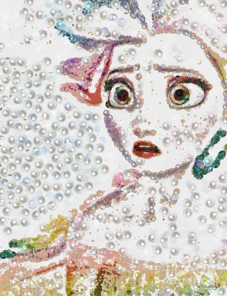 Painting - Elsa Art Pearlesqued In Fragments  by Catherine Lott