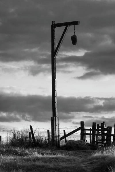 Northumbria Photograph - Elsdon Gibbet Bw by David Taylor