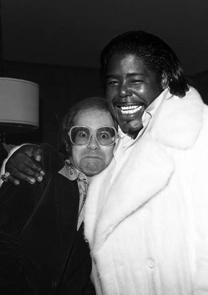 Elton John Photograph - Elton John And Barry White by James Fortune