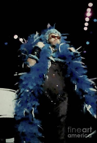 Elton John Photograph - Elton John Painting by Concert Photos
