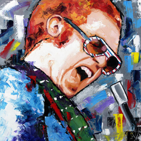 John Singer Painting - Elton John by Richard Day