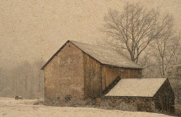 Mixed Media - Elverson Barn by Trish Tritz