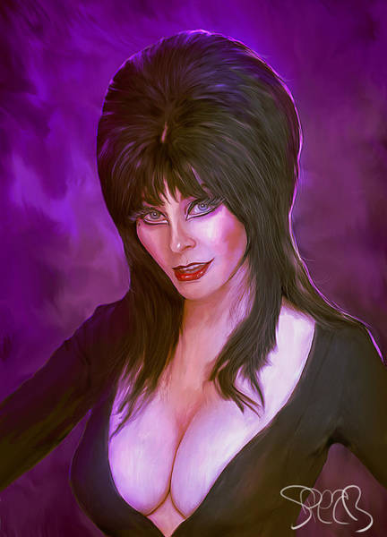 Dracula Painting - Elvira Mistress Of The Dark by Mark Spears