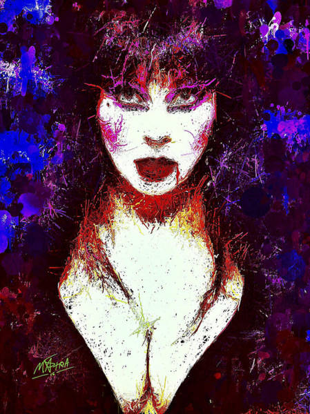 Mixed Media - Elvira Mistress Of The Dark by Al Matra