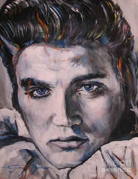 Painting - Elvis 2 by Eric Dee