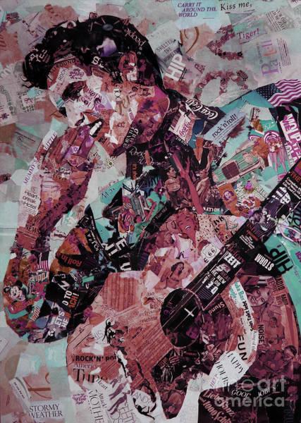 Wall Art - Digital Art - Elvis Presley Collage Art 01 by Gull G