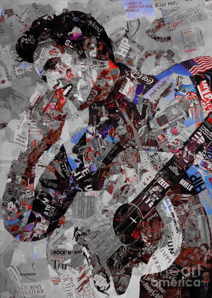 Wall Art - Digital Art - Elvis Presley Collage by Gull G