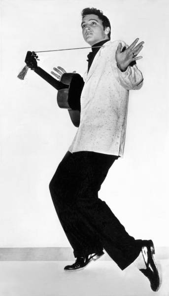 Elvis Photograph - Elvis Presley In 1956 by Underwood Archives