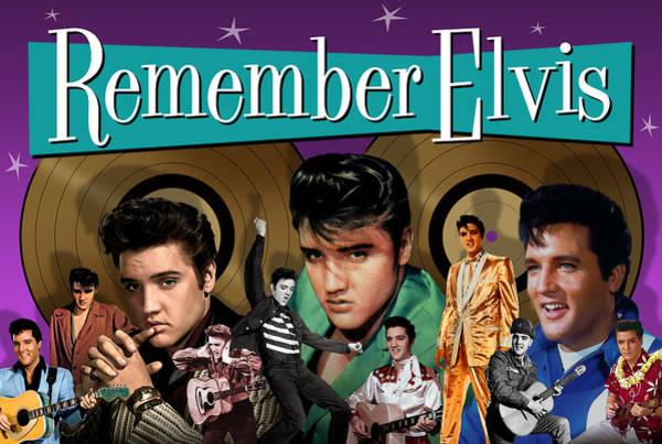 Wooden Shoe Digital Art - Elvis Presley - Remember Elvis by David Richardson