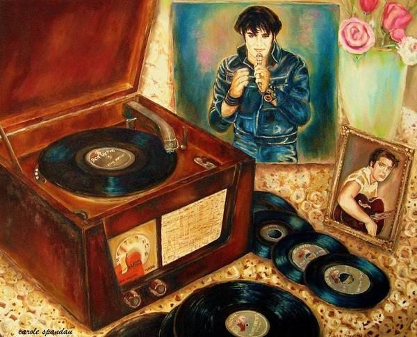Painting - Elvis Presley Still Number One by Carole Spandau