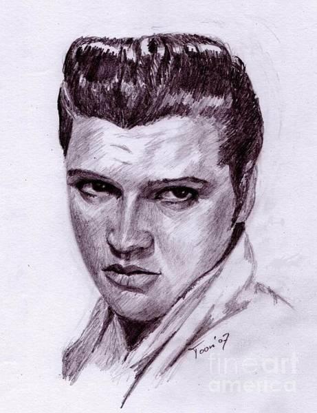 Drawing - Elvis by Toon De Zwart